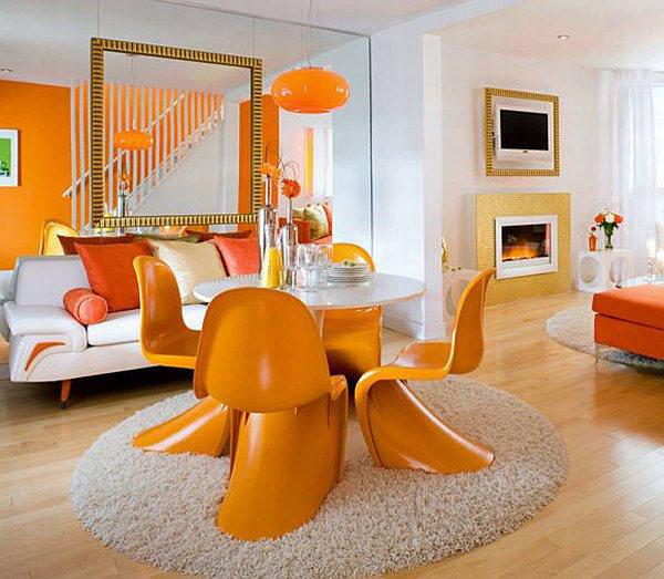 Оранжевые интерьеры