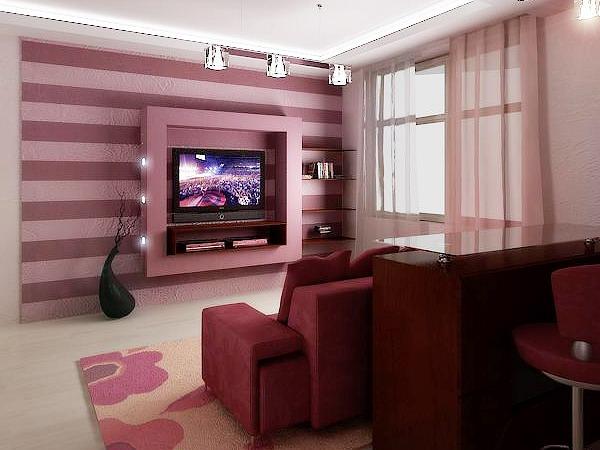 Телевизор в интерьере гостиной – главный предмет обстановки!