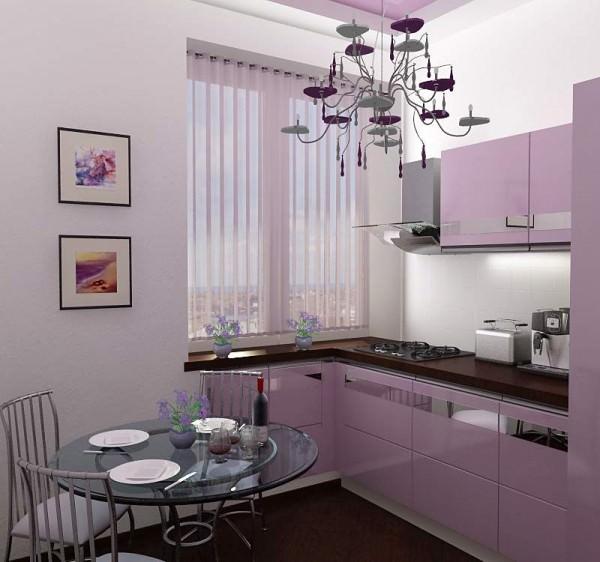 Интерьер кухни размером 9 кв м