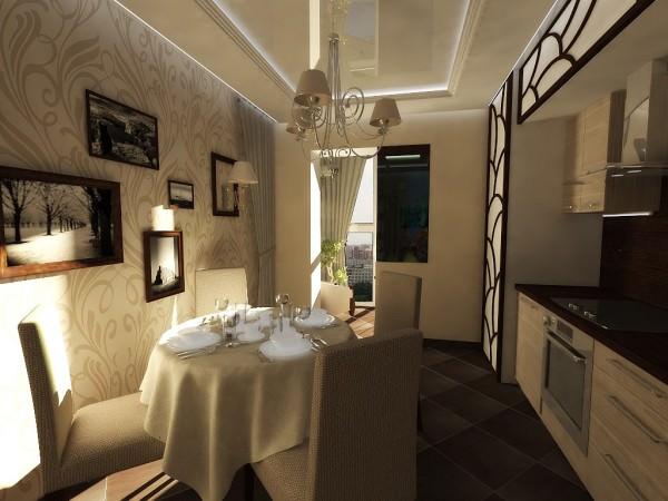 Интерьер кухни размером 12 кв. м.