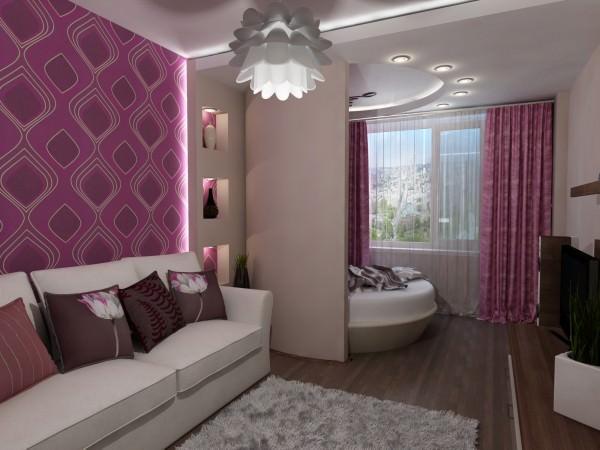 Интерьер гостиной-спальни - фото и советы
