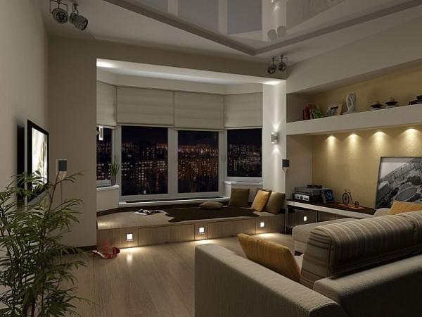Интерьер гостиной в панельном доме - идеи и советы