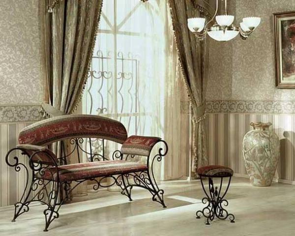 Кованая мебель – ее преимущества для дома