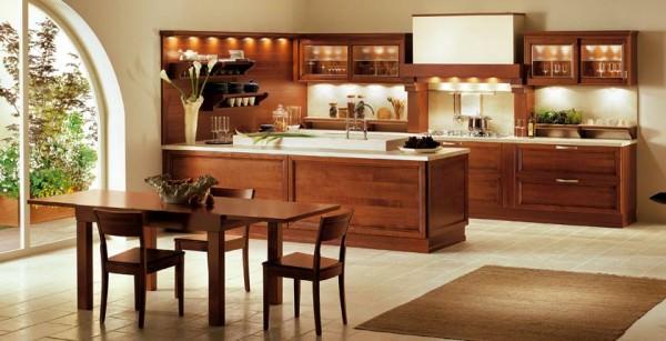 Коричневые кухни — секреты выбора мебели и отделки
