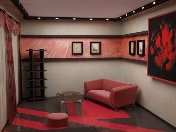 Интерьер жилой комнаты 18 кв. м.