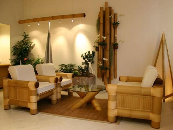 Натуральный бамбук в интерьере