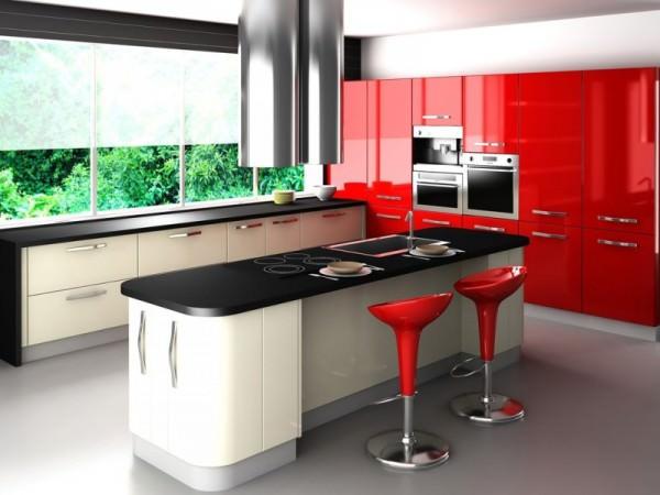 интерьер кухни в картинках, белые кухни в интерьере