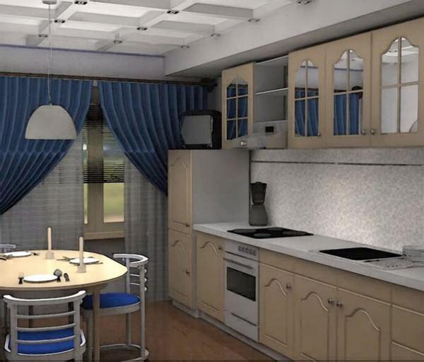 Дизайн интерьер маленькой малогабаритной кухни - фото и советы
